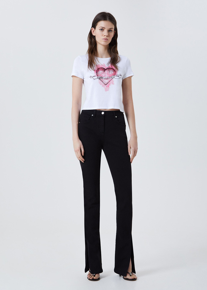 BLUFIN: FIVE-POCKET JEANS WITH SLITS