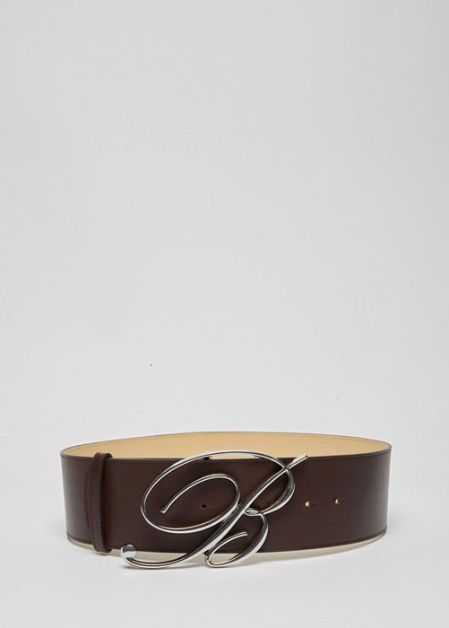 BLUMARINE: BELT IN LEATHER WITH LOGOED BUCKLE