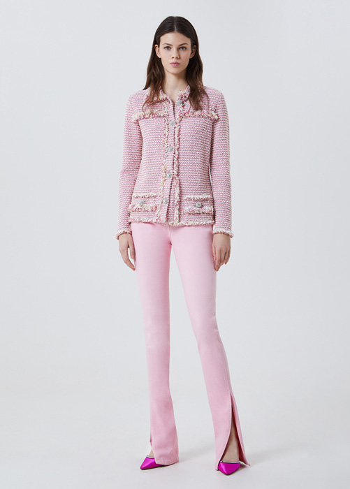 BLUMARINE BOUCLÉ JACKET WITH JEWEL BUTTONS