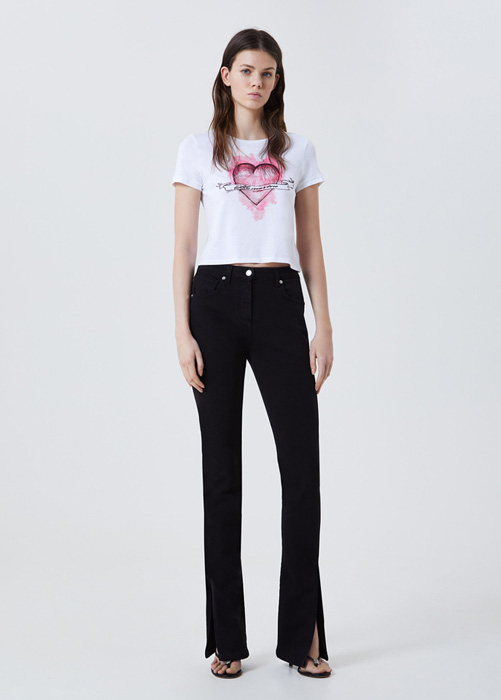 BLUMARINE FIVE-POCKET JEANS WITH SLITS